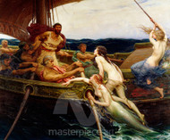 Herbert James Draper - Ulysses and the Sirens Premium Giclee