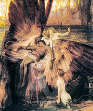 Herbert James Draper - The Lament for Icarus Premium Giclee