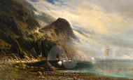 Maritime Art - A Ship in the Fog by Carl Philip Webber Premium Giclee
