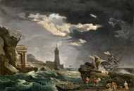 Maritime Art - A Shipwreck Scene by Claude-Joseph Vernet