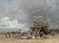 Maritime Art - Return of the Terre-Neuvier by Eugène Boudin