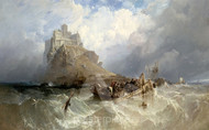 Maritime Art - Mount St Michael, Cornwall by Clarkson Stanfield