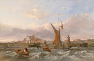Maritime Art - Tilbury Fort - Wind Against the Tide by Clarkson Stanfield