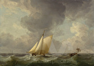 Maritime Art - A Cutter in a Strong Breeze by Charles Brooking