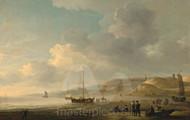 Maritime Art - The Coast near Scheveningen, Fishing Pinks on the Shore