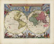 Vintage Map - Nova Et Accvratissima Totius Terrarvm Orbis Tabvla 1665