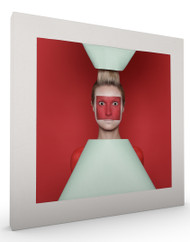 Stretched Canvas Red Squares by Sergey Smirnov