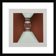 Framed Wall Art Red Squares by Sergey Smirnov