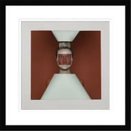 Framed Wall Art Red Squares by Sergey Smirnov