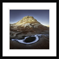 Framed Wall Art Alien Planet Ice Pocket by Shenshen Dou