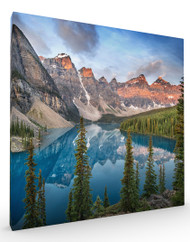 Stretched Canvas Landscape Lake Moraine by Ignacio Palacios