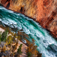Landscape Print Yellowstone River by Ignacio Palacios