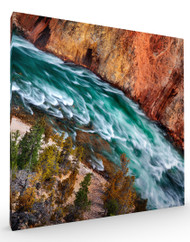 Stretched Canvas Landscape Yellowstone River by Ignacio Palacios