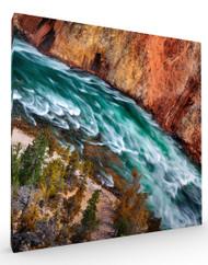 Stretched Canvas Landscape Yellowstone River by Ignacio Palacios