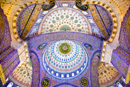 The Blue Mosque by Nora de Angelli Art Print