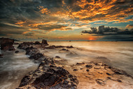 Angry Beach by Gunarto Song Seascape Art Print