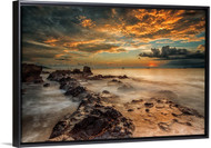 Angry Beach by Gunarto Song Seascape Float Frame Wall Art