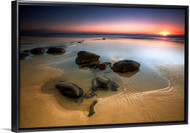 Coffee Rocks by Mel Brackstone Seascape Float Frame Wall Art