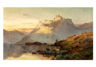 The Peaks of the Western Highlands by Alfred de Bréanski Landscape