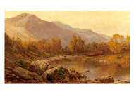 The Vale of Llangollen by Alfred de Bréanski Landscape