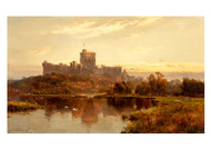 Windsor Castle at Sunset by Alfred de Bréanski Landscape