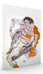 Seated Couple by Egon Schiele Wall Art
