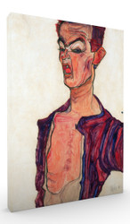 Self Portrait Grimacing by Egon Schiele Wall Art