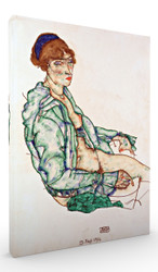 Sitting Semi Nude with Blue Hairband by Egon Schiele Wall Art