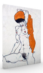 Standing Nude with Orange Drapery by Egon Schiele Wall Art