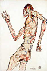 The Dancer by Egon Schiele Art Print