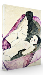 Two Reclining Nudes by Egon Schiele Wall Art