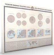 Tableau des Principales Projections Geographiques Vintage Map Stretched Canvas