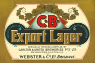 C.B. Export Lager Beer Advertising