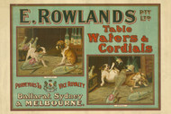 E. Rowlands Pty. Ltd. Table Waters & Cordials Vintage Advertising