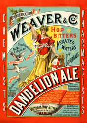 Weaver & Co. Dandelion Ale Beer Vintage Advertising