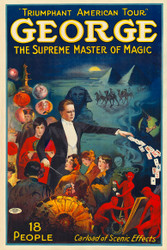 George the Supreme Master of Magic Vintage Advertising
