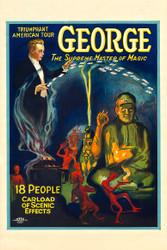 George the Supreme Master of Magic II Vintage Advertising