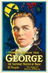 George the Supreme Master of Magic III Vintage Advertising