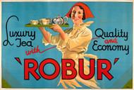 Robur Luxury Tea Tea Australian Vintage Advertising