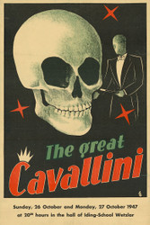 The Great Cavallini Magic Vintage Advertising