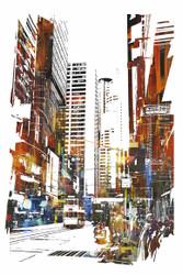 Abstract Art, Abstract Cityscape I
