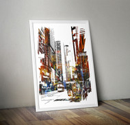 Wall Art Framed, Abstract Cityscape I