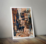 Wall Art Framed, Abstract Cityscape III
