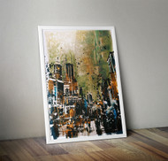 Wall Art Framed, Abstract Cityscape V