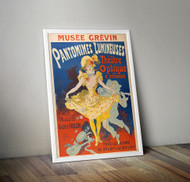 Pantomimes Lumineuses by Jules Cheret Framed