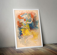 Courrier Francais by Jules Cheret Framed
