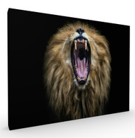 Big Mouth Wildlife Art Print by Pedro Jarque, Stretched Canvas