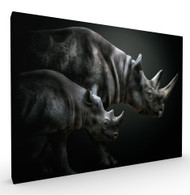 Growing Up Wildlife Art Print by Pedro Jarque, Stretched Canvas