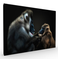 Lets Have a Little Talk Wildlife Art Print by Pedro Jarque, Stretched Canvas