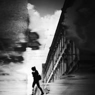 Reflection on the Street by Dragoslav S Art Print